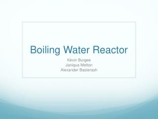 Boiling Water Reactor