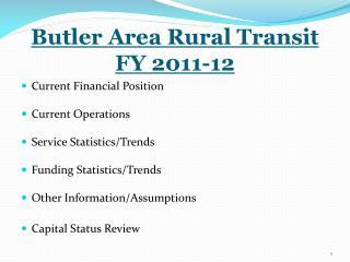 Butler Area Rural Transit FY 2011-12