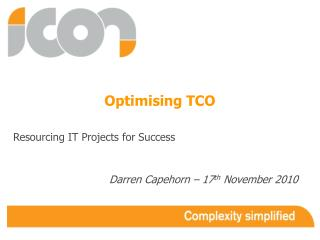 Optimising TCO