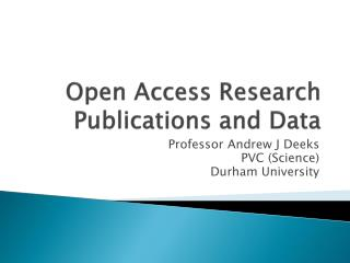 Open Access  Research Publications  and Data