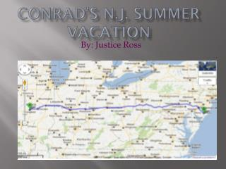 Conrad's N.J. Summer Vacation