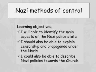 Nazi methods of control