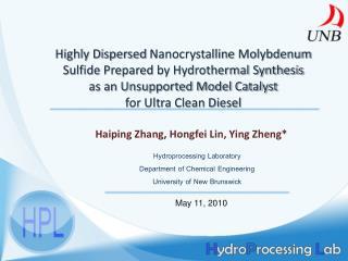 Haiping  Zhang,  Hongfei  Lin, Ying  Zheng *