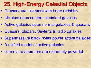 25. High-Energy Celestial Objects