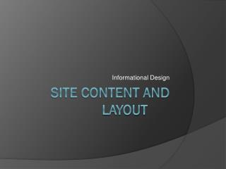 Site Content and Layout