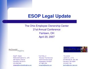ESOP Legal Update