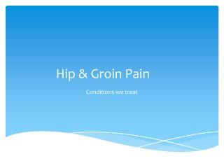 Hip & Groin Pain