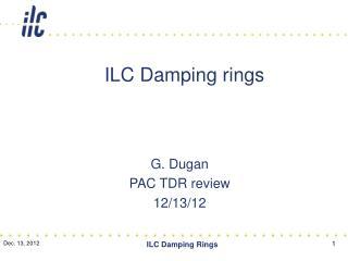 ILC Damping rings