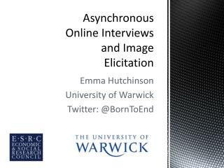 Asynchronous Online Interviews and Image Elicitation