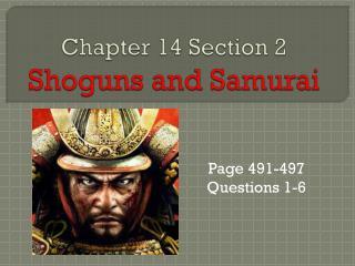Chapter 14 Section 2 Shoguns and Samurai