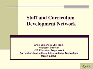 Staff and Curriculum  Development Network