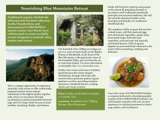 Nourishing Blue Mountains Retreat