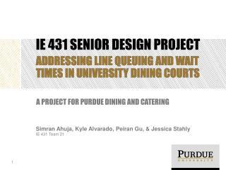 IE 431 Senior Design project
