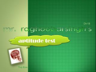 a ptitude test