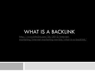 What is a backlink