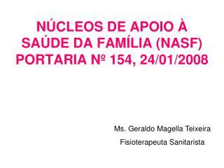 N CLEOS DE APOIO   SA DE DA FAM LIA NASF PORTARIA N  154, 24