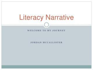 Literacy Narrative