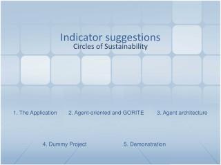 Indicator suggestions