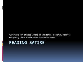 Reading Satire