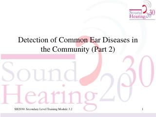 Detection of Common Ear Diseases in the Community (Part 2)