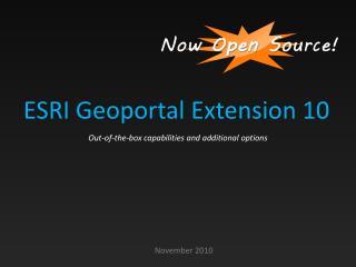 ESRI Geoportal Extension 10