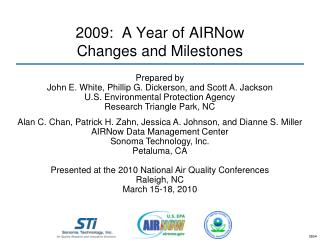 2009:  A Year of AIRNow  Changes and Milestones
