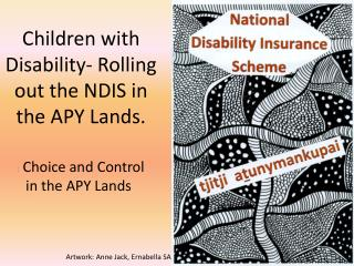Children with Disability- Rolling out the NDIS in the APY Lands.