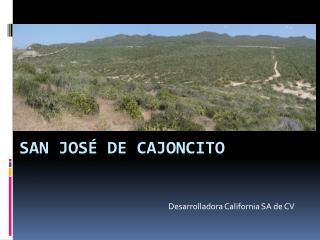 San José de cajoncito