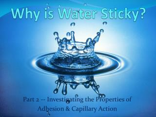Why is Water Sticky?