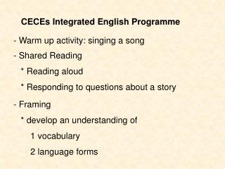 CECEs Integrated English Programme