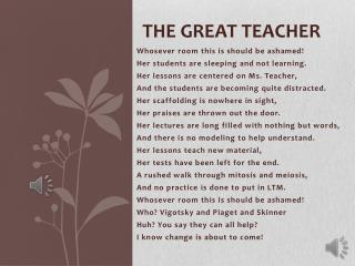 The great teacher