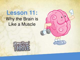 Lesson 11:  Why the Brain is Like a Muscle