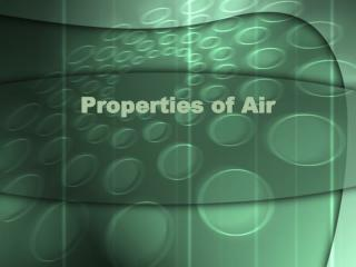 Properties of Air