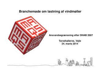 Ansvarsbegrænsning efter DHAB 2007  Torvehallerne, Vejle     24. marts 2014