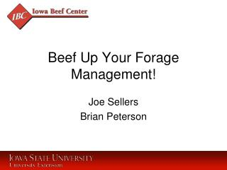 Beef Up Your Forage Management!