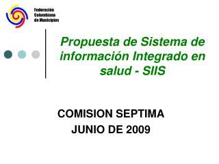 Propuesta de Sistema de información Integrado en salud - SIIS