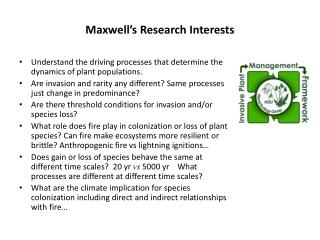 Maxwell's Research Interests