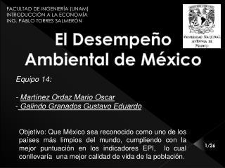 El  Desempeño Ambiental de México