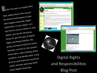 Digital Rights  and Responsibilities Blog Post