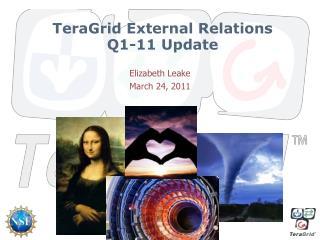 TeraGrid External Relations  Q1-11  Update