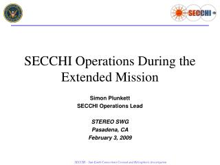 SECCHI Operations  During the Extended Mission