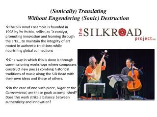 (Sonically) Translating  Without Engendering (Sonic) Destruction