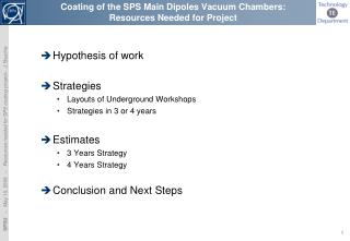 Coating of the SPS Main  D ipoles  V acuum  C hambers:  Resources Needed for Project