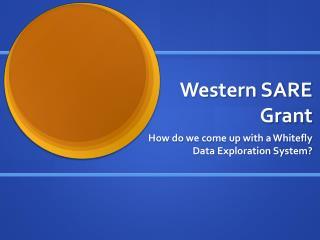 Western SARE  Grant