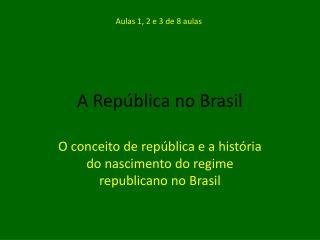 A República no Brasil