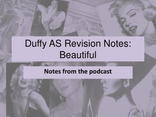 Duffy AS Revision Notes: Beautiful