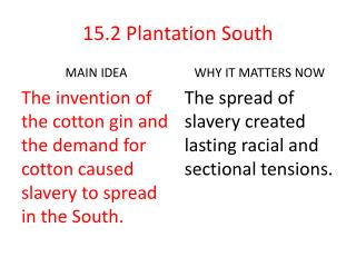 15.2 Plantation South