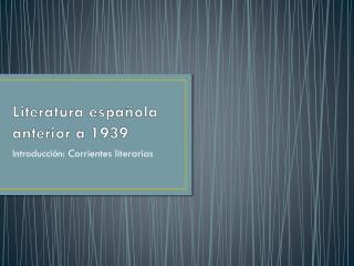 Literatura española anterior a 1939