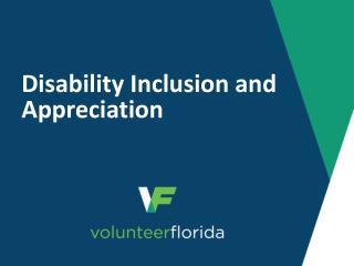 Disability Inclusion and Appreciation
