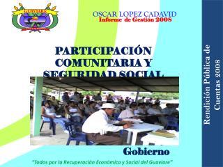 PARTICIPACIÓN COMUNITARIA Y SEGURIDAD SOCIAL